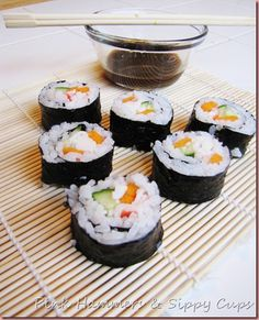 Easy homemade sushi tutorial. Will use soy or rice paper, instead of seaweed.