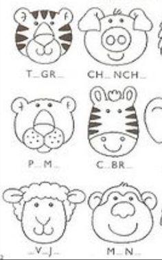 Animals heads patterns