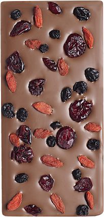 Chocolate ╰☆╮Chocolate with cranberries, raisins and nuts (you can sub pumpkins seeds!)
