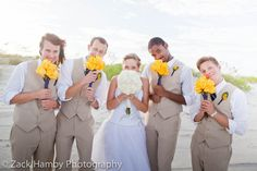 Birk Wedding - Bride with groomsmen