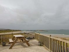 Glassillaun Beach House - Spacious seaside house located on the edge of the Renvyle Peninsula, in County Galway. Scuba diving school next door. Diving School, Multi Fuel Stove, Next Door, Semi Detached, Seaside, Beach House, Deck, Cottage, Outdoor Decor