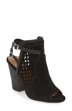BCBGeneration 'Creen' Peep Toe Bootie (Women) available at Cute Shoes, On Shoes, Me Too Shoes, Shoes Heels, High Heels, Pumps, Stitch Fix Fall, Suede Booties, Black Booties