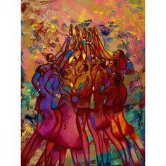 Sassy Keith Mallett African American Art Print 18x24