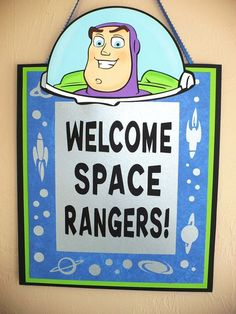 Buzz Lightyear Welcome Party Sign Toy Story Buzz Lightyear Sign ...