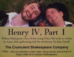 Free Shakespeare in the park: Henry IV, Part 1