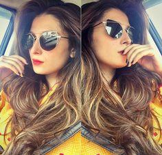 Ayeza Khan is a ray of Sweet Sunshine with her Caramel Highlights and Cheerful Yellow Kurta #AyezaKhan #PakistaniActresses #PakistaniCelebrities ✨