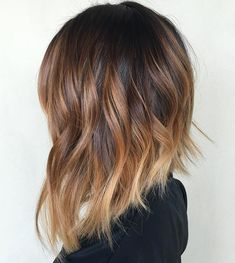 Brown ombre hair color looks super feminine and sexy. Check out trendy color ideas. - Brown ombre hair color looks super feminine and sexy. Check out trendy color ideas. Brown ombre hair color looks super feminine and sexy. Check out trendy color ideas. Ombre Hair Color, Hair Color Balayage, Brown Hair Colors, Hair Colour, Short Balayage, Balayage Lob, Lob Ombre, Bronde Lob, Ombre Bob Hair