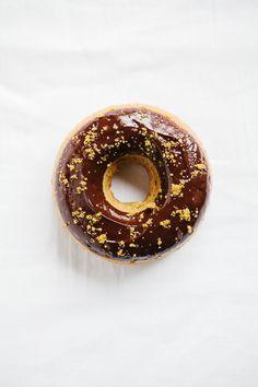 ... pistachio almond baked donuts with dark chocolate glaze ...