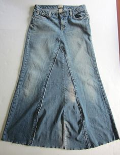 HippyDippy Festival Jeans Skirt Size 6 by AuthenticRaJ on Etsy, $20.00