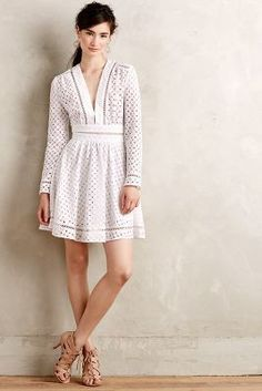 Anglaise Dress in White Looks Style, Style Me, Dress Outfits, Cute Outfits, Dress To Impress, Dress Skirt, Boho Chic, Street Style, Womens Fashion