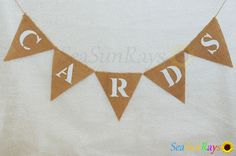 CARDS Hessian Burlap Rustic Vintage Wedding Banner Mini Bunting