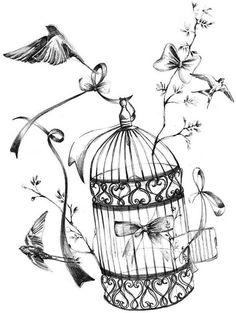 8 best tattoo ideas images cage tattoos bird cage tattoos tattoo Rat Cage Design les bottines de lili