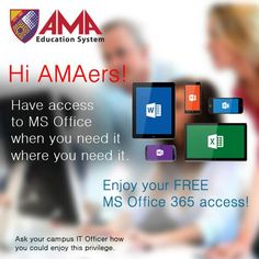 Hi AMAers! Here's another privilege we've made just for you! #MSOffice365 #AMAerPrivilege