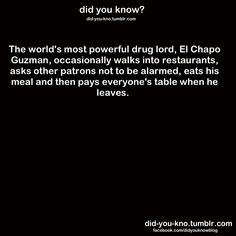 nicest drug lord ever