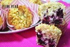 Mi Recetario por Elena Pilar: Muffins de moras, limón y tomillo
