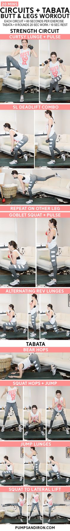 Legs & Butt Workout (Strength Circuits + Tabatas) | Posted By: CustomWeightLossProgram.com