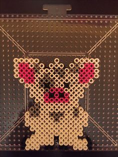 Pua the pet pig from Moana made from perler beads