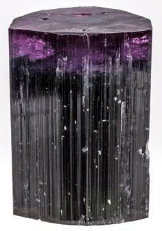 Unusual Purple-Capped Tourmaline. This and more important crystal specimens for sale on CuratorsEye.com