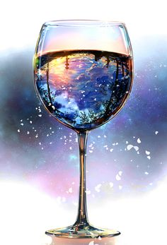 The world in a glass. Lovely!