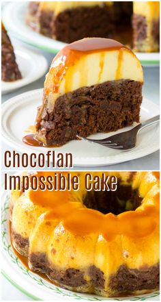 Mexican Chocoflan Impossible Cake is a dense, rich chocolate cake stacked with creamy vanilla flan, dripping with a delicate layer of cajeta caramel sauce! #ASpicyPerspective via @spicyperspectiv