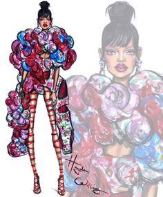 Met Gala 2017 por Hayden Williams Rihanna llevaba a medida Comme des Garçons Kylie Jenner vistiendo Versace Gigi Hadid llevando personalizado Tommy Hilfiger Zendaya lleva Dolce & Gabbana