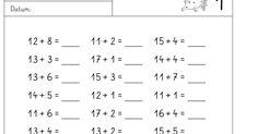 hier jetzt die Plusaufgaben ohne ZÜ und hier gibt es nicht so viele Kombinationen... LG Gille Schrift: Grundschrift Will Software ...