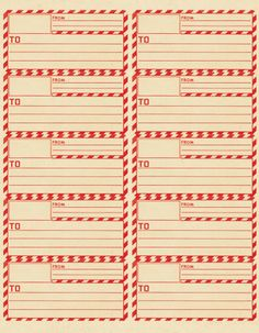 Vintage parcel label free printable!