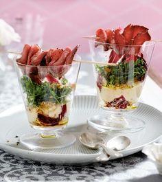 Das Rezept für Weiße-Bohnen-Creme mit Roastbeef und weitere kostenlose Rezepte auf LECKER.de