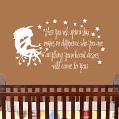 Fairy Wall decals for Kids Wall Quote When You by HouseHoldWords, $40.00