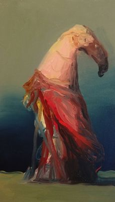 Mo – Joseba Eskubi - S/T - óleo sobre lienzo - 33 x 19cm #contemporary #art #exhibition