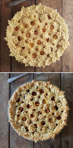 """thedesigndome: """" Baker Karin Pfeiff Boschek Showcases Her Skills With Before & After Shots Of Her Stunning Pie Crust Designs Keep reading """" Tart Recipes, Fruit Recipes, Dessert Recipes, Strawberry Recipes, Strawberry Fruit, Dessert Ideas, Pie Crust Designs, Pie Decoration, Filling Food"""