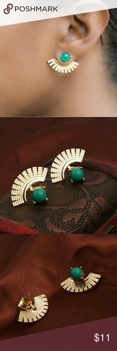 Boho Green  Stud Earrings Size: 2.5cmx0.7cm Color: Green Very fashionable boho stud earrings.  FAST SHIPPING  ?? Jewelry Earrings