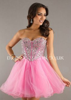 A-line Sweetheart-neck Crystal Beaded Bodice Short Mini Organza Cocktail Dresses