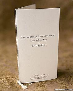 Missal personalizado de casamento