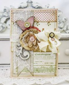 Step by step process for shabby chic card, by Melissa Phillips (and some shabby chic style photos too)