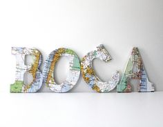 DIY Map Letters Tutorial - Step by Step - DIY Crafts with Maps