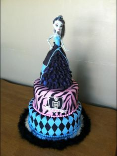 tiers only, no doll.      Monster High Cake