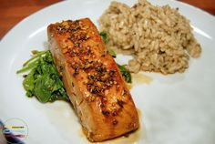 comfortable food - quick and easy broiled salmon with honey and soy