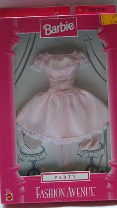 Barbie Fashion Avenue 1998 Party 20595 Cotton Candy Pink Lace Cocktail | eBay