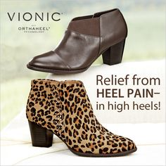 It's true! These booties from Vionic with Orthaheel Technology have the podiatrist-designed footbeds that help relieve heel pain.