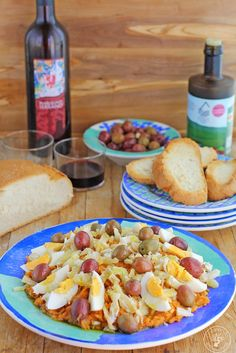 Rin Ran de Cazorla. Recipe step by step. Vegetarian Tapas, Recipe Steps, Exotic Food, Sweet Recipes, Veggies, Mexican, Pizza, Lunch, Meals
