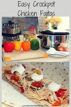 Easy Crockpot Chicken Fajita Recipe  #chicken #chickenrecipe #recipe #dinner