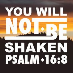 I keep my eyes always on the Lord. With him at my right hand, I will not be shaken. Psalm 16:8 #inspiration #scripture