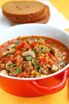 Супа от гъби и леща