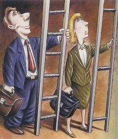 Charlotte. Cette photo montre l'inequalite entre les hommes et femmes dans les lieu de travail. Les femmes avaient beaucoup plus de difficultes dans leurs métiers.