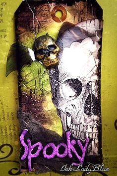 #Halloween Tag Spooky  @ツキネコスタンプ倶楽部 Tag WorkShop 10月