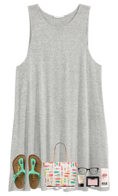 """""""Last day of school! Officially done w/ 6th grade!"""" by simplysydnee ❤ liked on Polyvore featuring H&M, Birkenstock, Kate Spade, NARS Cosmetics and Ray-Ban"""