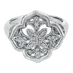 LOVE THIS RING! sterling silver and diamonds! #diamonds #ring #silver #fashion