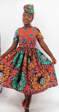 c64449cfd8e Ife African midi dress  African dress   African print dress   African print  fabric   African dresses for women