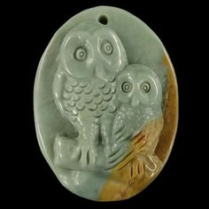 BH10503 100% Natural  Hand Carved Gemstone Owl Wild by Artiststone